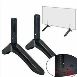 2PCS Universal TV Stand Base Mount Holder for Samsung Vizio