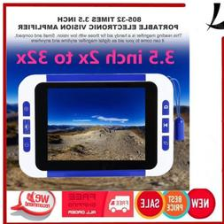 "3.5"" 2-32X Portable Electronic TV Digital Magnifier Reading"