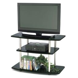 32-Inch Flat Screen TV Stand in Wood Grain Finish New condit