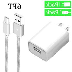 Ankoe USB Type-C Cable  with 3.0 18W Fast Wall Charger for S