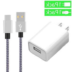 Ankoe USB Type-C Cable with 3.0 18W Fast Wall Charger for Sa