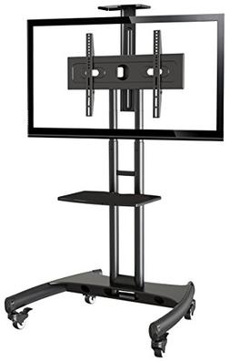 Rocelco VSTC Adjustable Height Mobile TV Stand, for 32-70 in