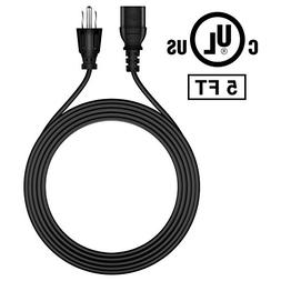 FITE ON 5ft Premium AC Power Cord Cable Lead Plug for Eleme
