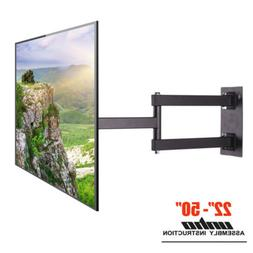 Full Motion TV Wall Mount Corner Articulatig Arm VESA Bracke