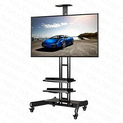 """NORTHBAYOU CA55 Multi-Functional Mobile TV Cart for 32"""" - 65"""