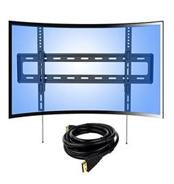 Loctek Curved Panel Low Profile Fixed TV Wall Mount Bracket