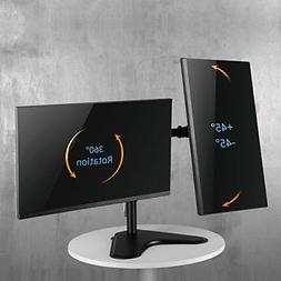 Dual Monitor Stand Mount Double Arm Computer for 13 to 32 in