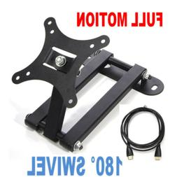 "Full Motion LCD and Plasma TV Wall Mount For 12"" 15"" 19"" 20"""