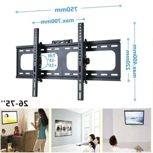 "32-75"" LED Plasma TV XL Slim Tilt Wall Mount Bracket Up to"