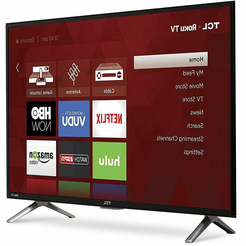 TCL Roku Smart LED with Resolution 60Hz Rate - Black
