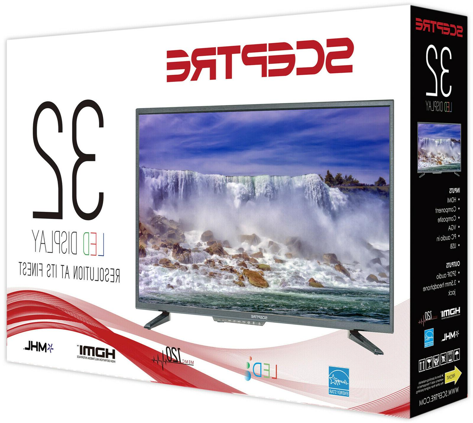 Sceptre 32inch Crystal HD 1080P LED TV Television New