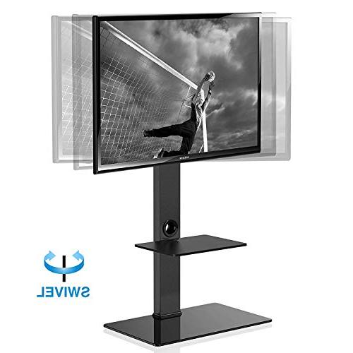 FITUEYES with Two Shelves for 32inch 65inch Sony/Samsung/LG/Vizio TV Swivel Mount TT207001MB