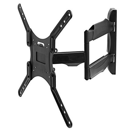 """Full TV Wall Mount Monitor for 32"""" LED, LCD Screen Displays up VESA 400x400. Universal Swivel, Articulating with 10'"""