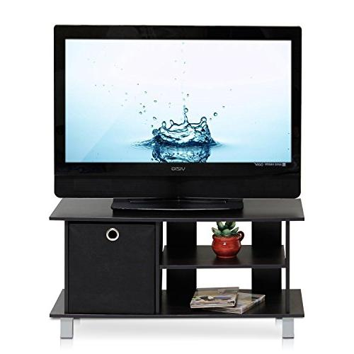 Furinno 13239EX/BK Entertainment Center with Drawers,