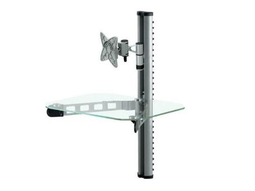 """Mount-It! TV Wall Mount With Shelf for 32"""" TVs and AV Receiv"""