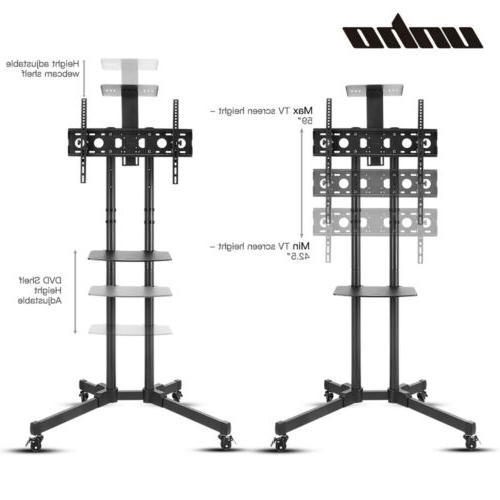 "32-70"" Adjustable Stand Universal Screen Rolling TV Bracket"