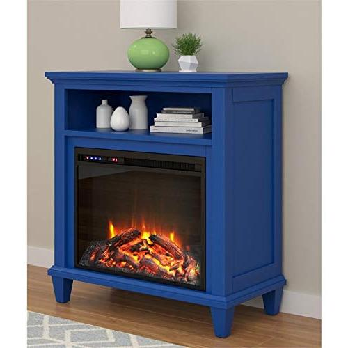 "Ameriwood TV Stand with TV's up 32"", Navy"