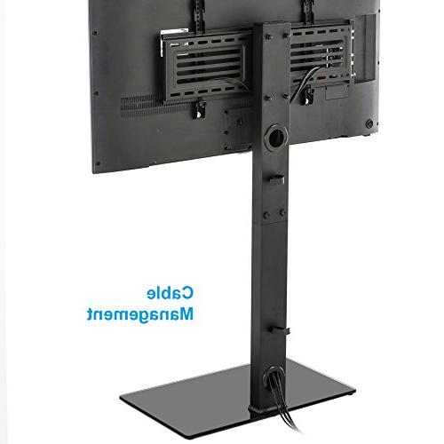 FITUEYES Universal TV Stand Base with Mount Height Adjustable for to Inch TT107501MB