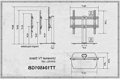 """TV Stand Pedestal Wall For Flat Screen Samsung to 55"""""""