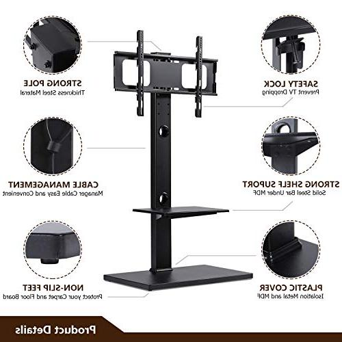 Rfiver Swivel Stand Mount Two to Inches TVs, Black