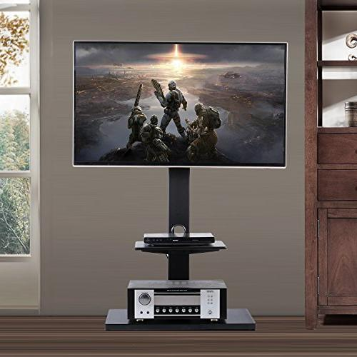 Rfiver Swivel Floor Stand with Mount Two to Inches Plasma/LCD/LED TVs, Black TF1001