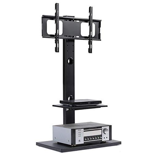 Rfiver Stand with Two 32 to 65 TVs, Black TF1001