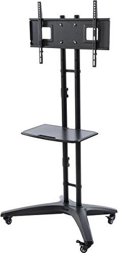 """HDTV LCD Cart and Stand, Fits 32"""" - 65"""" TVs, Height Adjustab"""