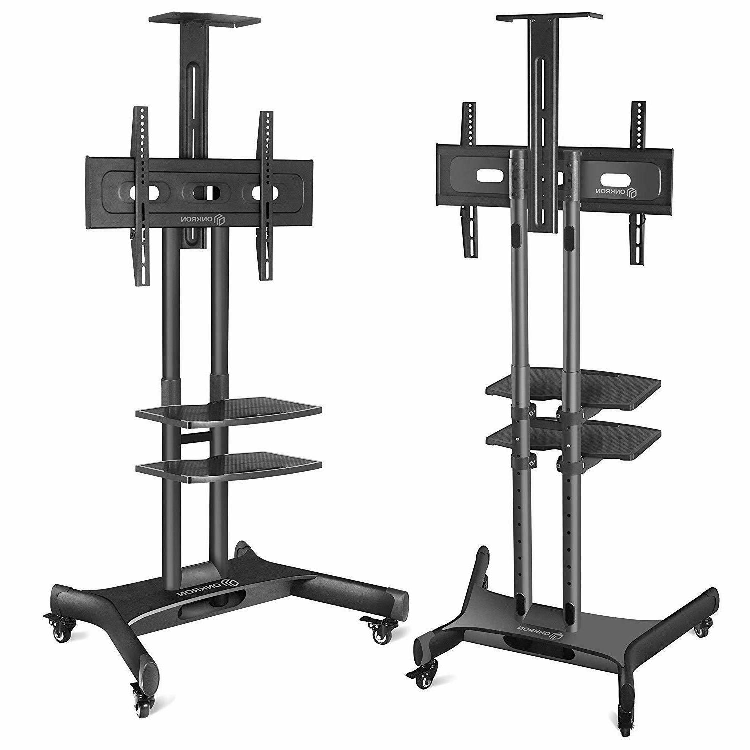 ONKRON Mobile Stand TV Cart with & 2 inch