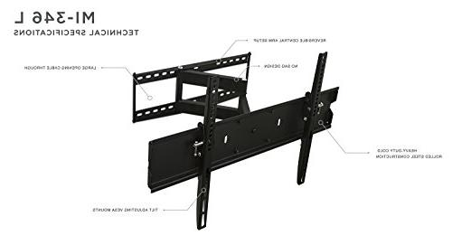 Mount-It! Wall For Flat 40 48 49 50 60 65 LCD LED OLED Plasma Televisions, Lb