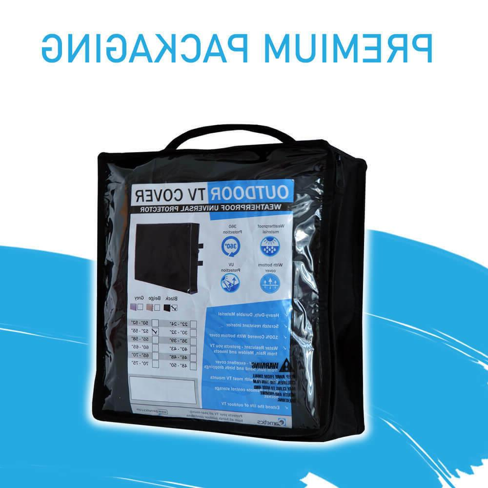 Outdoor TV Cover 30 inch flat Screen Weatherproof 360 protection