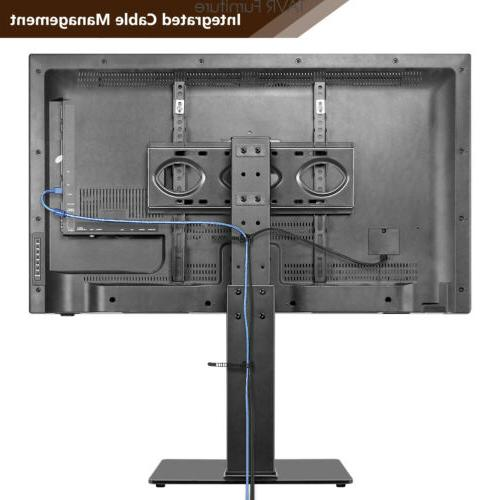 Swivel Table Stand with Mount for Flat/Curved Screen TVs