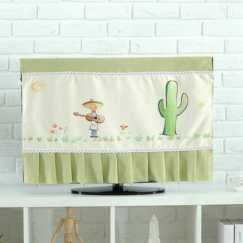 TV Covers 37-65 inch TV Cover Decorative Hood Curtain Decor