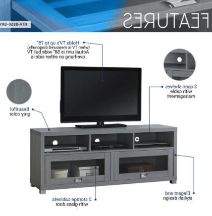 TV Stand Up To 75 Screen Home Furniture Media Console