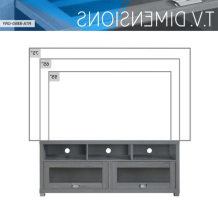 TV Stand 58 To inch Screen Entertainment Furniture Media