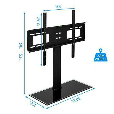 "TV Stand Base Swivel Mount And Adjustable Height for 32"" - 5"