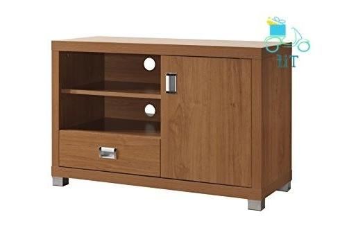 tv stand with storage color maple