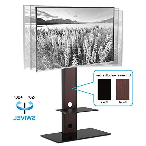 FITUEYES Universal TV Stand Swivel Mount Height Two 65inch TV, TT207501MB