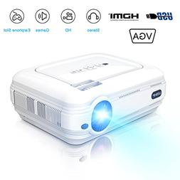 Mini 720P Projector,LCD LED Video Projector 3200 Lumens Supp