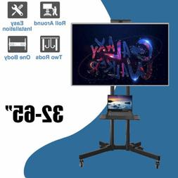 "Mobile TV Cart for 32"" to 65"" Inch LCD LED Plasma Flat Panel"