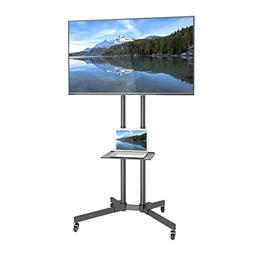 1home Mobile TV Stand Trolley Cart Mount Exhibition Display