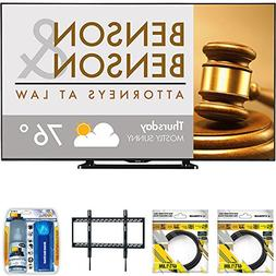"Sharp 80"" Class Full HD Commercial LED TV  with 2X 6ft High"
