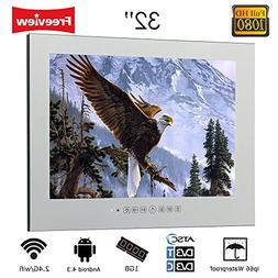 """Soulaca 32"""" LED Smart Magic Mirror TV and Android TV Monitor"""