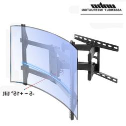 Swivel and Tilt Curved or Flat TV Wall Mount Bracket for 32-