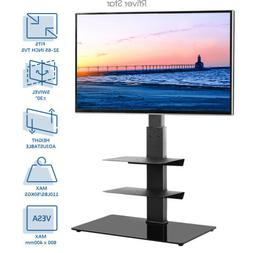 Swivel Floor TV Stand with Mount for Most 32-65 inches Flat