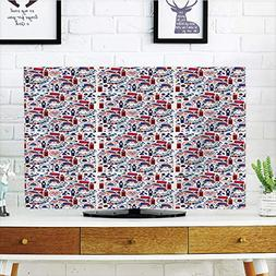 iPrint LCD TV dust Cover Strong Durability,London,Pattern wi