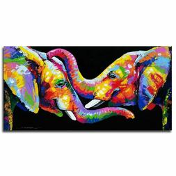 Wall Art Canvas Animal Painting Elephant Picture Poster Home
