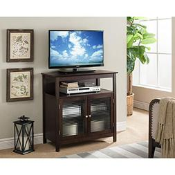 K and B Furniture Co Inc Walnut Wood 32-inch Entertainment C