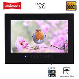 "Soulaca 32"" Waterproof LED TV for Bathroom Black Color T320F"